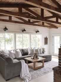 Fancy Farmhouse Living Room Decor Ideas To Try 34
