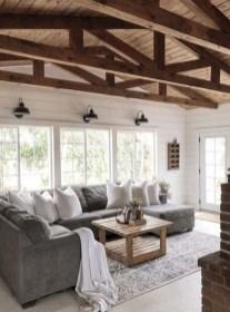 Fancy Farmhouse Living Room Decor Ideas To Try 34