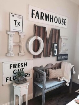 Superb Farmhouse Wall Decor Ideas For You 50