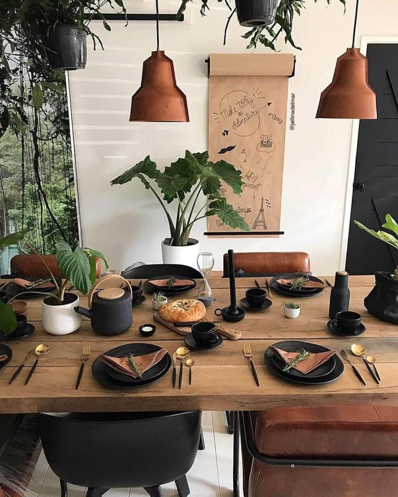 Mesa con estilo industrial