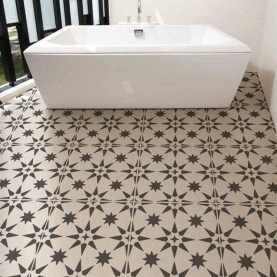 Unusual Diy Painted Tile Floor Ideas With Stencils That Anyone Can Do 10
