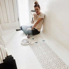 Unusual Diy Painted Tile Floor Ideas With Stencils That Anyone Can Do 31