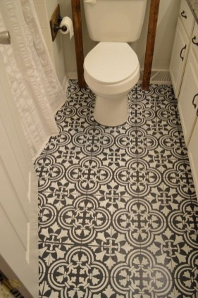 Unusual Diy Painted Tile Floor Ideas With Stencils That Anyone Can Do 44