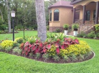 Adorable Flower Beds Ideas Around Trees To Beautify Your Yard 35