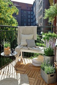 Casual Small Balcony Design Ideas For Spring This Season 38