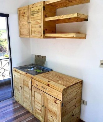 Chic Diy Projects Pallet Kitchen Design Ideas To Try 34
