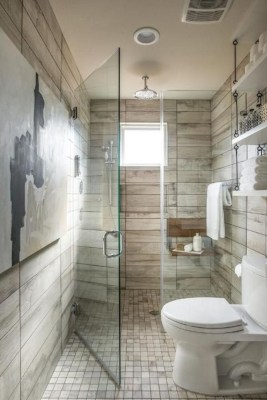 Chic Farmhouse Bathroom Desgn Ideas With Shower 23