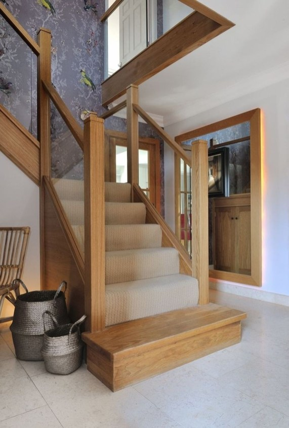 Gorgeous Wooden Staircase Design Ideas For Branching Out 58
