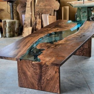 Impressive Home Furniture Ideas With Resin Wood Table 19