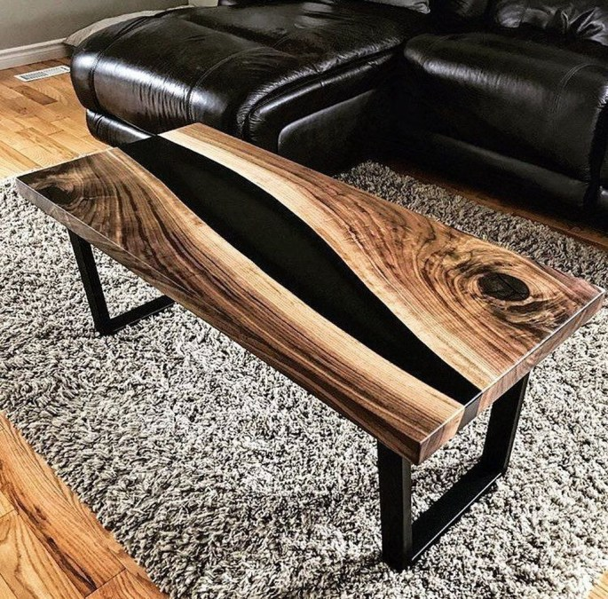 Impressive Home Furniture Ideas With Resin Wood Table 26
