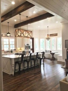 Latest Farmhouse Kitchen Décor Ideas On A Budget 38