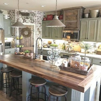 Latest Farmhouse Kitchen Décor Ideas On A Budget 44