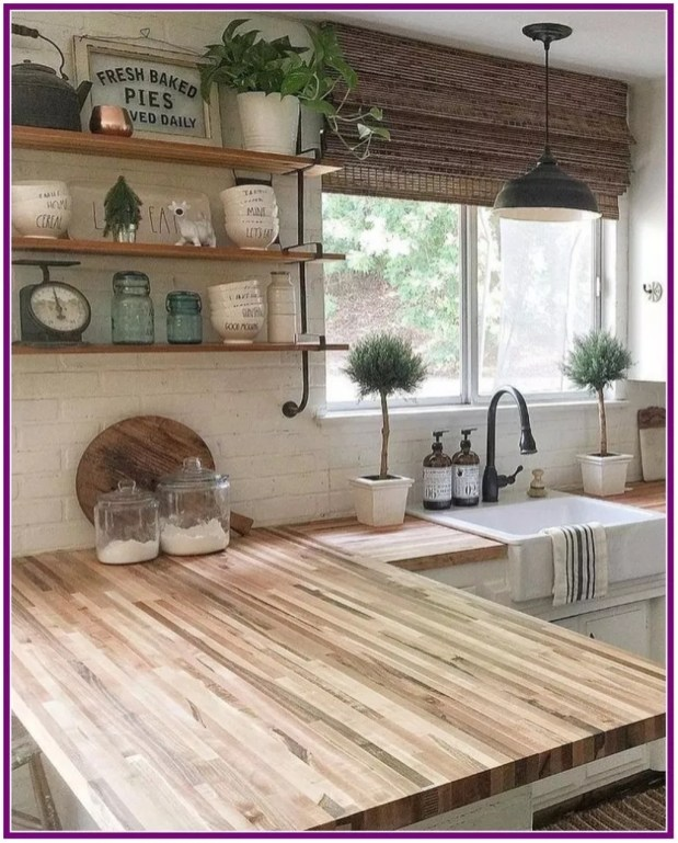 Latest Farmhouse Kitchen Décor Ideas On A Budget 54