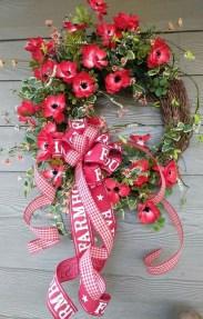 Newest Front Door Wreath Decor Ideas For Summer 03