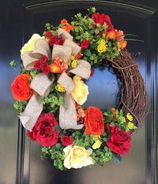 Newest Front Door Wreath Decor Ideas For Summer 17