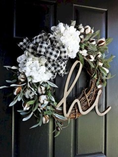 Newest Front Door Wreath Decor Ideas For Summer 40