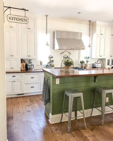 Trendy Fixer Upper Farmhouse Kitchen Design Ideas 21