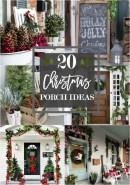 Awesome Christmas Farmhouse Porch Décor Ideas 08