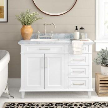 Wonderful Single Vanity Bathroom Design Ideas To Try 06