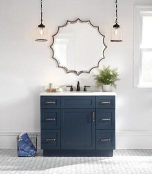 Wonderful Single Vanity Bathroom Design Ideas To Try 35