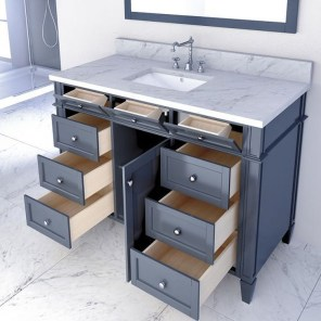 Wonderful Single Vanity Bathroom Design Ideas To Try 39