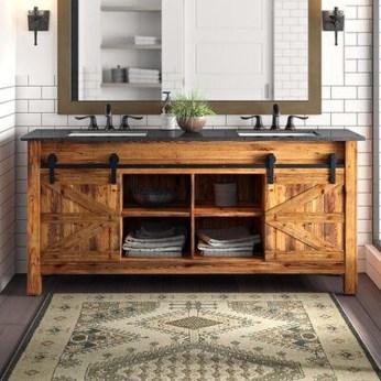 Wonderful Single Vanity Bathroom Design Ideas To Try 43