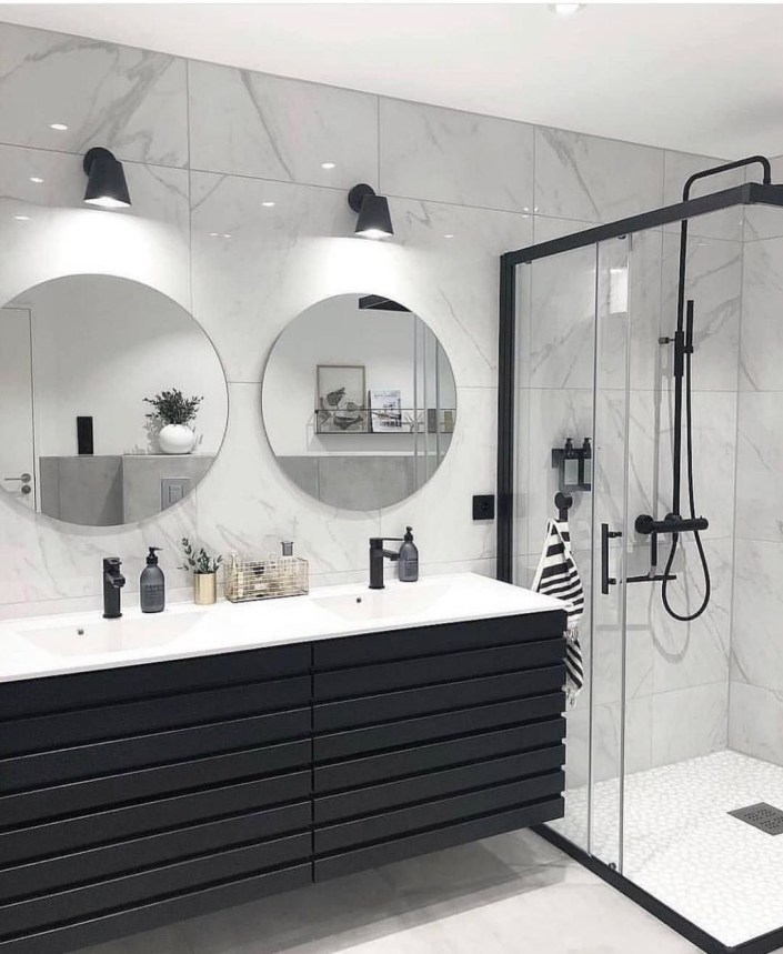 Wonderful Single Vanity Bathroom Design Ideas To Try 49