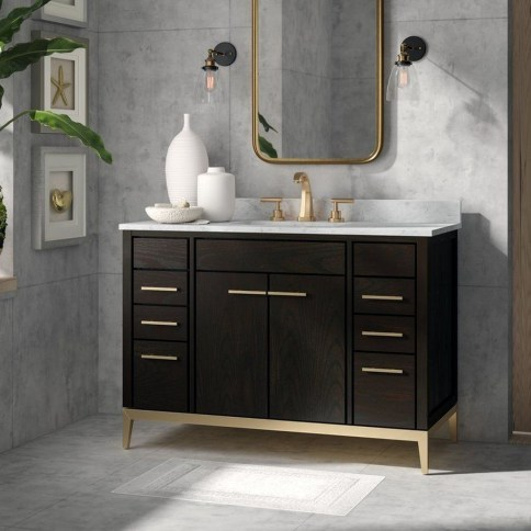 Wonderful Single Vanity Bathroom Design Ideas To Try 52