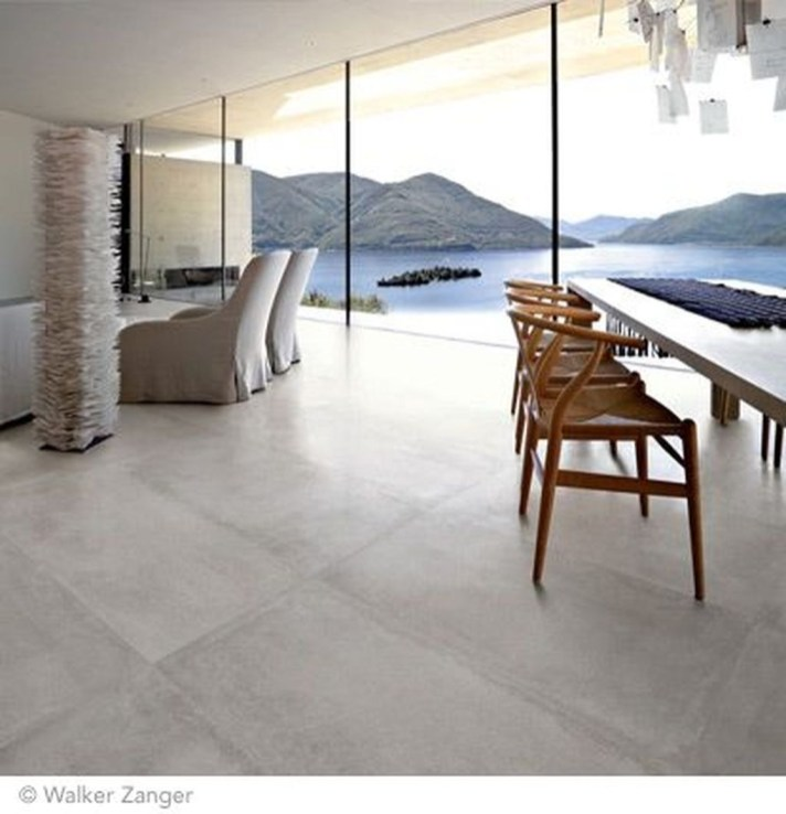 Awesome White Tiles Design For Living Room16