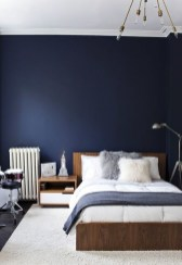 Beautiful Navy Blue And Coral Bedroom Decor01