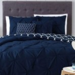 Beautiful Navy Blue And Coral Bedroom Decor26