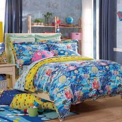 Beautiful Navy Blue And Coral Bedroom Decor43