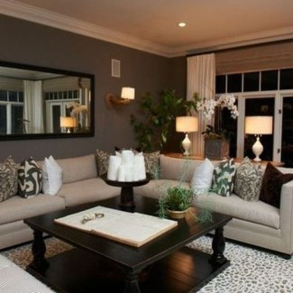 Cool Basement Living Room Design Ideas27