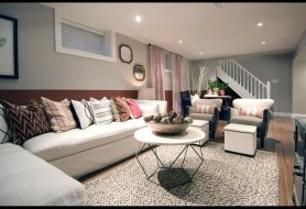 Cool Basement Living Room Design Ideas33