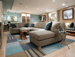 Cool Basement Living Room Design Ideas41