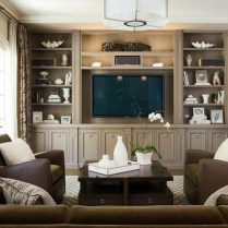 Gorgeous Cabinet Design Ideas For Small Living Room19