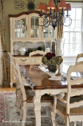 Gorgeous Dining Room Hutch Décor Ideas11