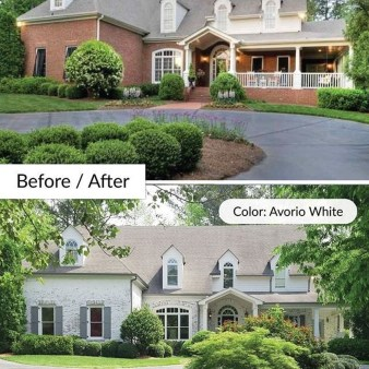 Adorable Brick House Exterior Makeover20