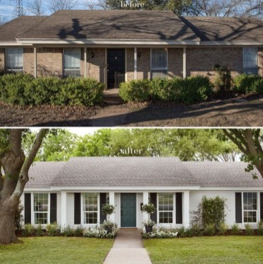 Adorable Brick House Exterior Makeover28