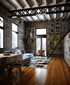 Adorable Loft Apartment Decor Ideas11