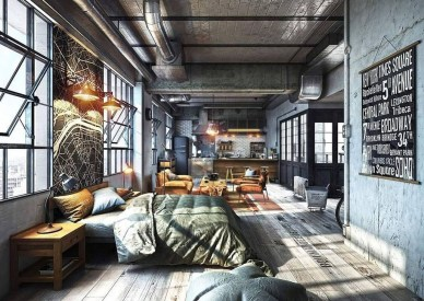 Adorable Loft Apartment Decor Ideas15