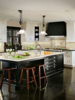 Affordable Black And White Kitchen Cabinets Ideas20