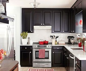 Affordable Black And White Kitchen Cabinets Ideas22