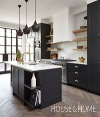 Affordable Black And White Kitchen Cabinets Ideas26