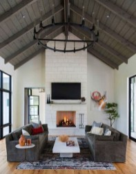 Awesome Living Room Design Ideas With Farmhouse Style01