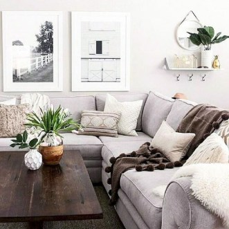 Awesome Living Room Design Ideas With Farmhouse Style16