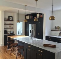 Best Ideas For Black Cabinets In Kitchen24
