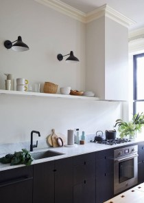 Best Ideas For Black Cabinets In Kitchen37