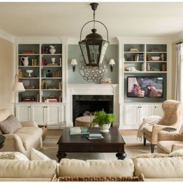 Impressive Living Room Ideas With Fireplace And Tv03
