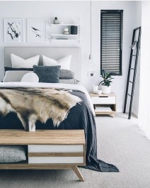 Awesome Modern Scandinavian Bedroom Design And Decor Ideas24